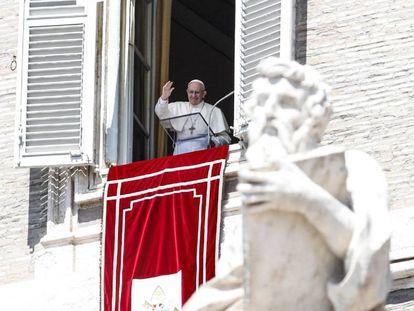 Papa Francisco, este domingo en el Vaticano.