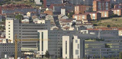 Vista del complejo hospitalario de Ourense.