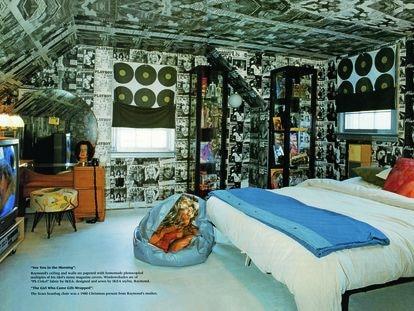 La habitación de Raymond Donahue, escaparatista de Ikea obsesionado con Farrah Fawcett, ocupó la portada del primer número de 'Nest'.  