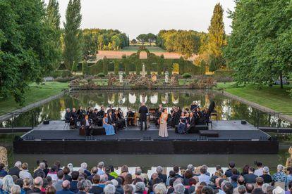 Un concierto del festival, en los jardines.