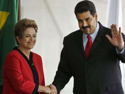 Maduro, y Rousseff, este viernes en la cumbre de Mercosur en Brasilia.