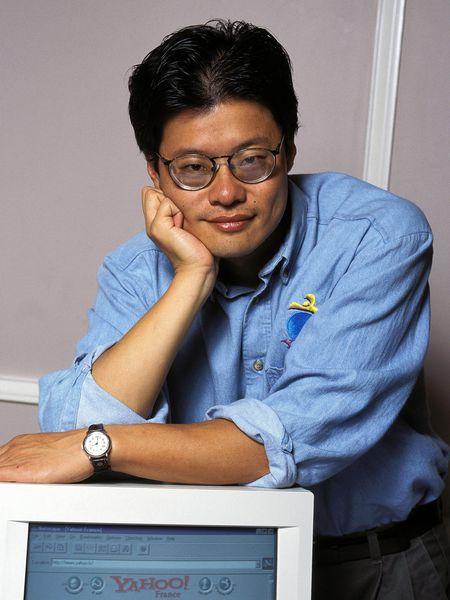 Jerry Yang, fundador de Yahoo!, en 1996.