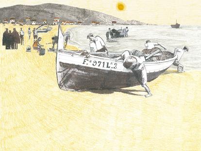 Una página de 'Todo bajo el sol', de Ana Penyas, editado por Salamandra Graphic.