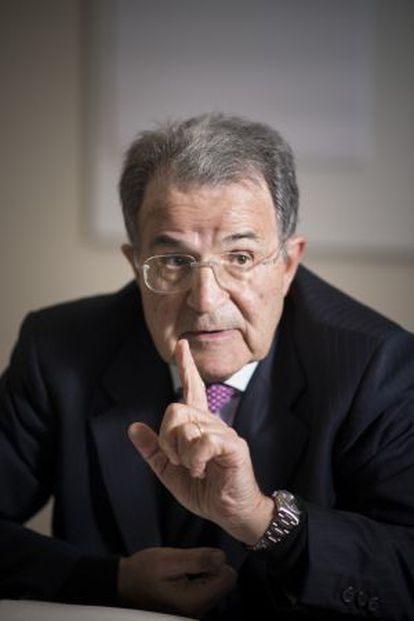Romano Prodi, el miércoles pasado en una charla en Barcelona.