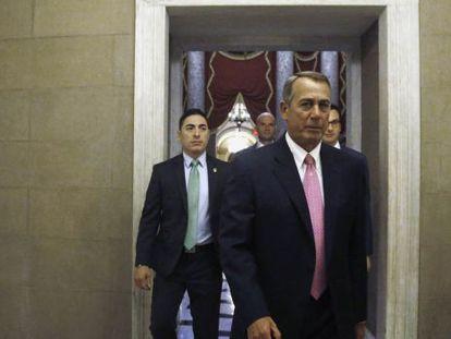 Boehner, este martes en el Capitolio.