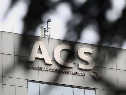 Exterior del edificio de la sede de la constructora española Grupo ACS.