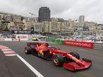 Formula One F1 - Monaco Grand Prix - Circuit de Monaco, Monte Carlo, Monaco - May 22, 2021 Ferrari's Charles Leclerc in action during qualifying REUTERS/Eric Gaillard