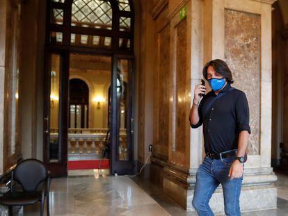 Francesc de Dalmases, en los pasillos del Parlament el pasado 12 de mayo.