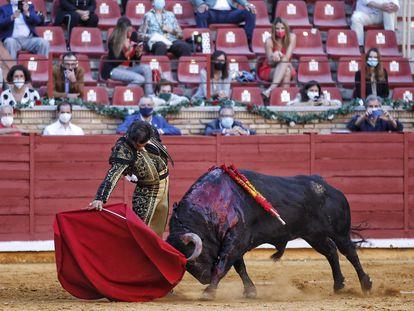 Morante de la Puebla, este lunes, en la plaza de toros de Córdoba.