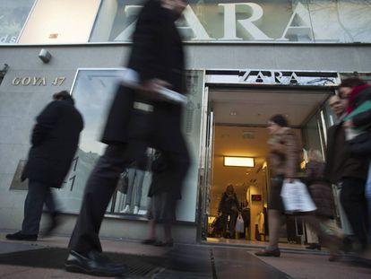 Tienda de Zara en la calle de Goya de Madrid