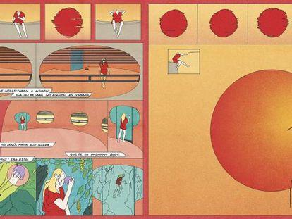 El cómic diseñado por María Medem y expuesto en CentroCentro.