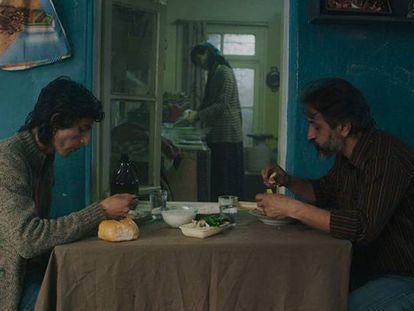 Una escena de la película 'The pigeon', ganadora de la Palma de Oro de la Mostra.