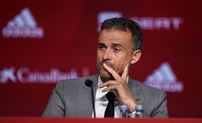 Luis Enrique, durante su presentación como seleccionador de España.