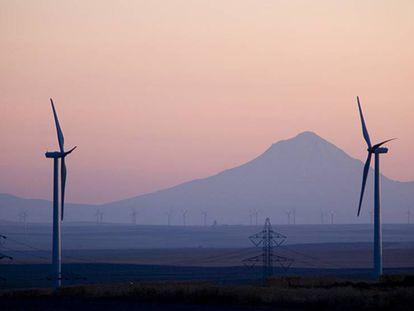 Parque eólico de Iberdrola en la costa oeste de EE UU.