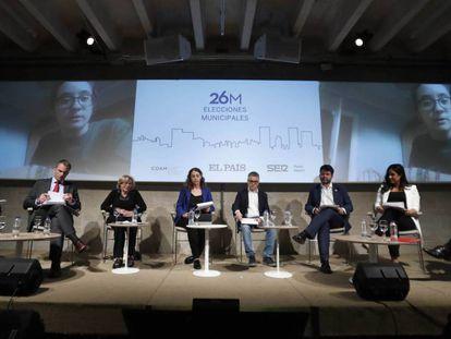 Momento del debate electoral organizado por EL PAÍS y Cadena SER. En vídeo, los momentos más destacados del debate electoral.