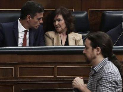 Sánchez e Iglesias consolidan la legislatura y marcan el nuevo eje del poder de centro izquierda