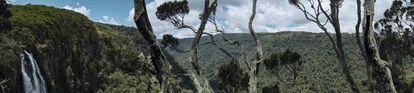 Vista desde las montañas Aberdare, en Kenia.