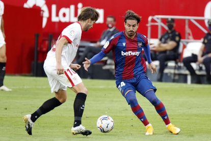 Campaña enfrenta a Rakitic en el partido de este jueves contra el Sevilla.