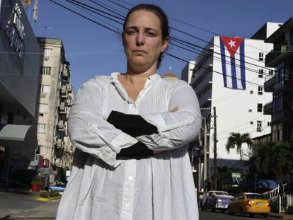 La artista Tania Bruguera, en La Habana, en diciembre de 2014.