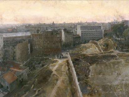 Madrid hacia el observatorio, de Antonio López, se podrá ver en la muestra Realistas de Madrid, en el Museo Thyssen-Bornemisza, a partir del 9 de febrero.