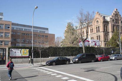 Colegio El Porvenir de Madrid, en la calle Bravo Murillo, en el que estudiaba la niña atropellada el jueves