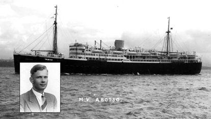 Ulrich Alexander Boschwitz y el barco 'Abosso', al bordo del que murió en 1942.