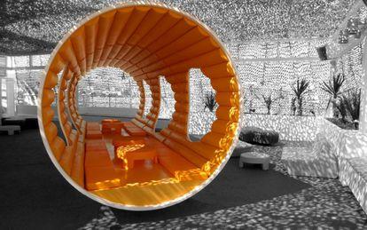 Proyecto para la terraza de Space en Ibiza, en 2003.
