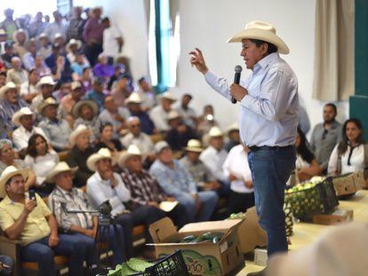 David Monreal Ávila, en un acto con alcaldes del sur de Zacatecas en 2019