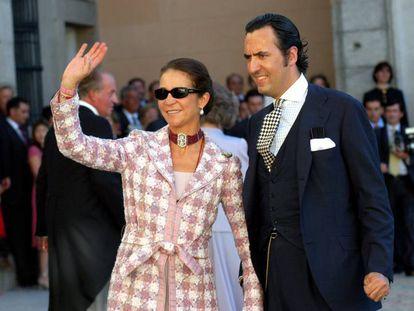 Jaime de Marichalar y la Infanta Elena en Segovia en 2004.