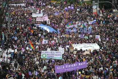Manifestación del pasado 8 de marzo en Madrid.