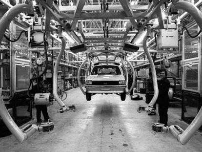 Factoría de Ford, en Almussafes, a finales de los años setenta.