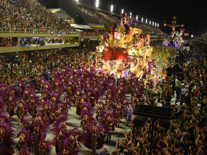 Celebración del Carnaval en Río de Janeiro, el 24 de febrero de 2020.