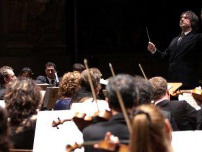 Riccardo Muti durante la dirección del Réquiem de Verdi.