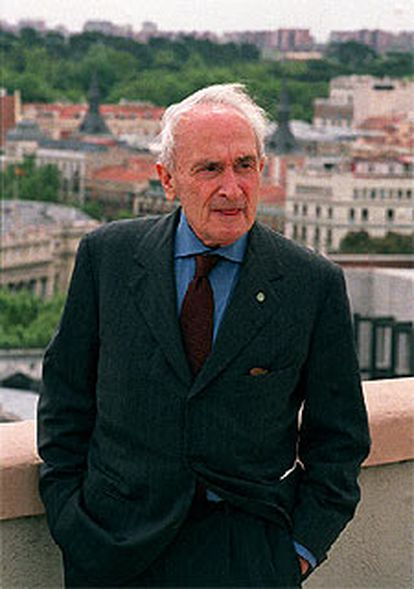 Giovanni Sartori, ayer, en Madrid.