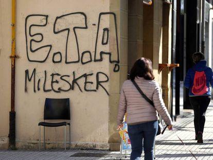 Pintada ETA en San Sebastián.