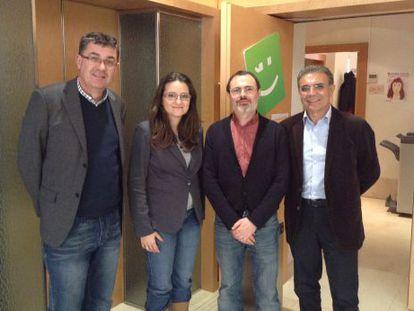 Enric Morera, Mònica Oltra, Ramon Rosselló y Josep Maria Pañella.