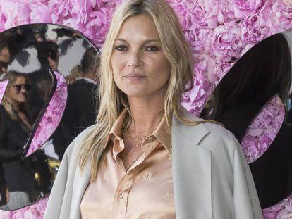 La modelo Kate Moss en la Semana de la Moda de Paris, en junio.