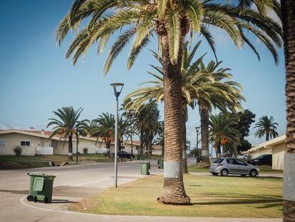 Un barrio de militares americanos en la base naval de Rota.