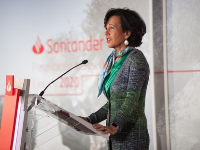 Ana Botín, presidenta de Banco Santander, una de las empresas paritarias  del Ibex.