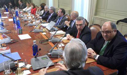 Reunión plenaria del Consejo General del Poder Judicial en 2010.