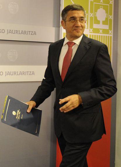 El 'lehendakari', Patxi López