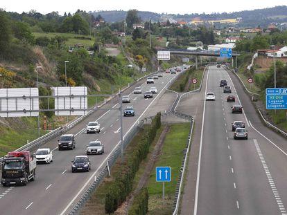 Autovía AS-II que une Oviedo y Gijón.