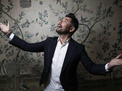 El cantante Miguel Poveda, en Madrid, el pasado martes. En vídeo, Miguel Poveda celebra sus 30 años de andadura musical con 'El tiempo pasa volando'