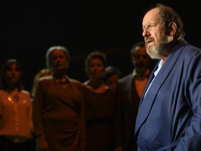 José María Pou, en la obra 'Justícia', interrumpida por la pandemia.