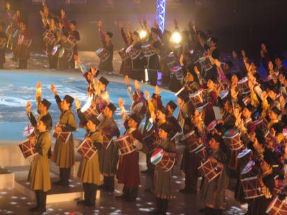 Final de la ceremonia de inauguración, hoy en Bakú