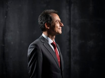 Pedro Duque, fotografiado en el Ministerio de Ciencia este viernes.