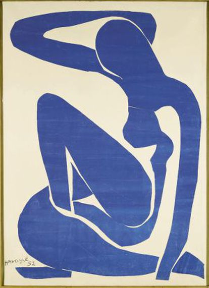 'Desnudo azul II'.