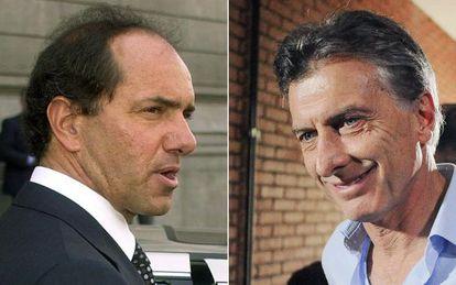 Daniel Scioli y Mauricio Macri.