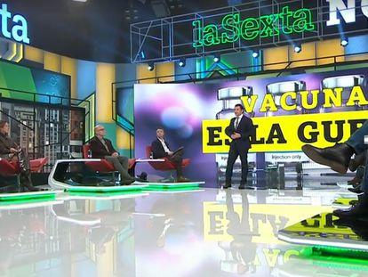 Una imagen de la tertulia política 'laSexta noche'.