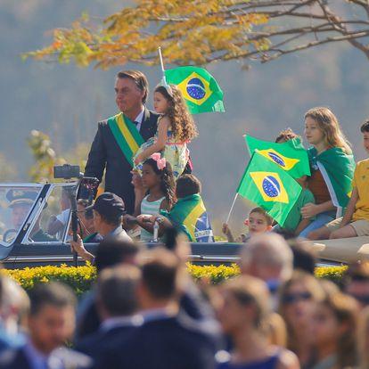 Brazil's President Jair Bolsonaro attends the Independence Day ceremony in Brasilia, Brazil, September 7, 2021. REUTERS/Adriano Machado